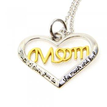 Love MOM Herz Kette 925 Silber