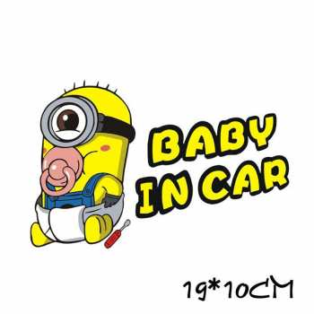 Baby in Car Aufkleber Minion